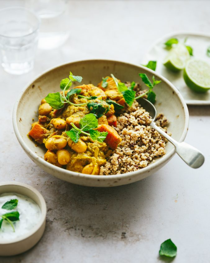 sweet potato and butter bean curry